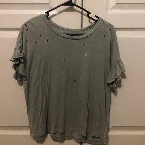 American Eagle Soft Ruffled Shirt